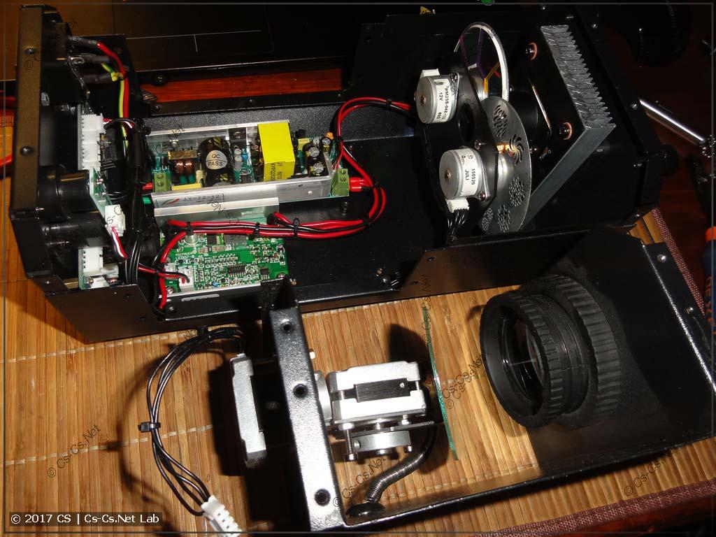 Сканер ShowLight SSD90 (опытная модель, внутренности)