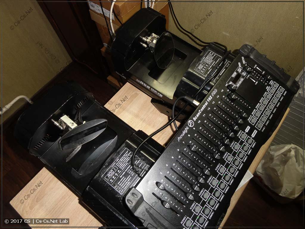 Сканеры ROBE Scan 250 XT и пульт управления DMX