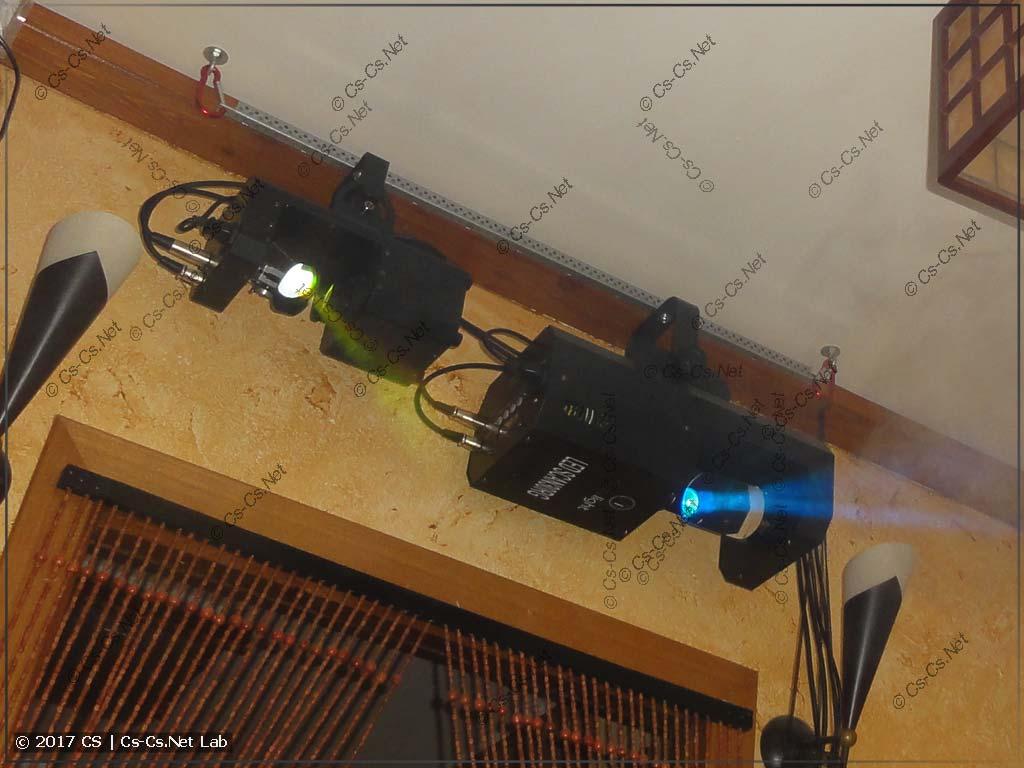 Пример подвеса сканеров горизонтально