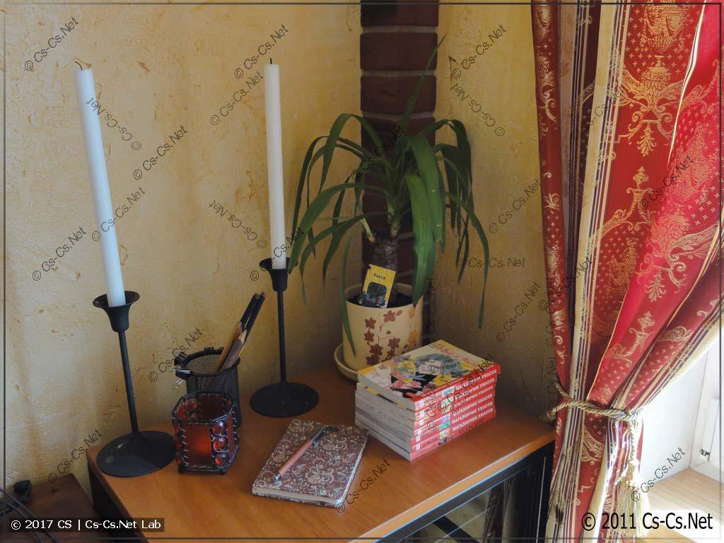 Итог ремонта: композиция на столике