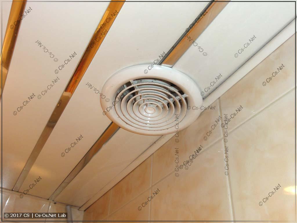 Готовый вентилятор в ванной
