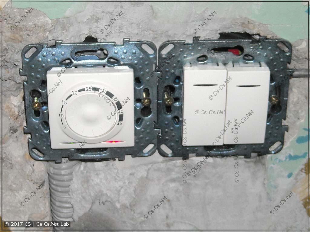 Монтируем терморегулятор тёплого пола и проверяем его работу