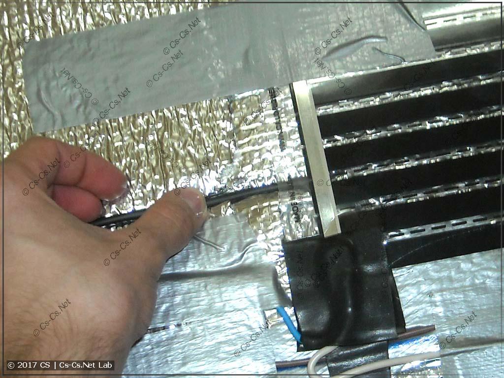 Правильное положение термодатчика плёночного пола