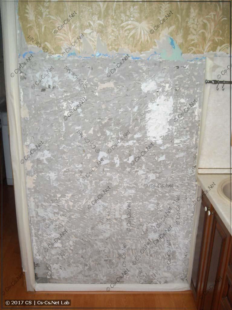 Стена в кухне после советской плитки