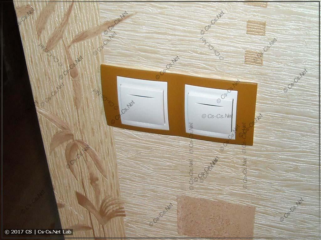 Новые кнопки UNICA в коридоре для освещения