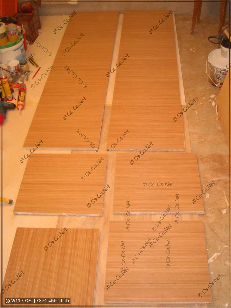 Оклеиваем двери стенного шкафа бамбуком