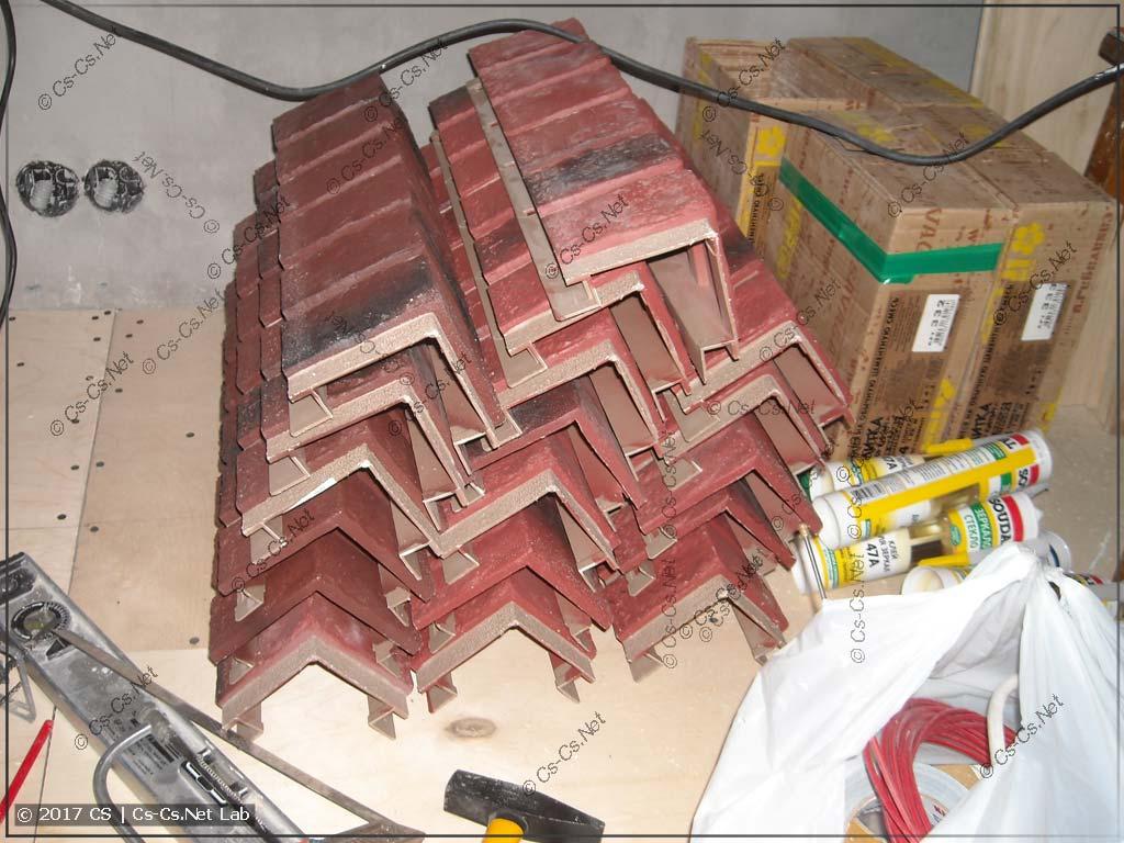 Запас углов для отделки стен