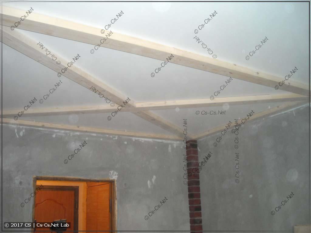 Монтируем доски на потолок