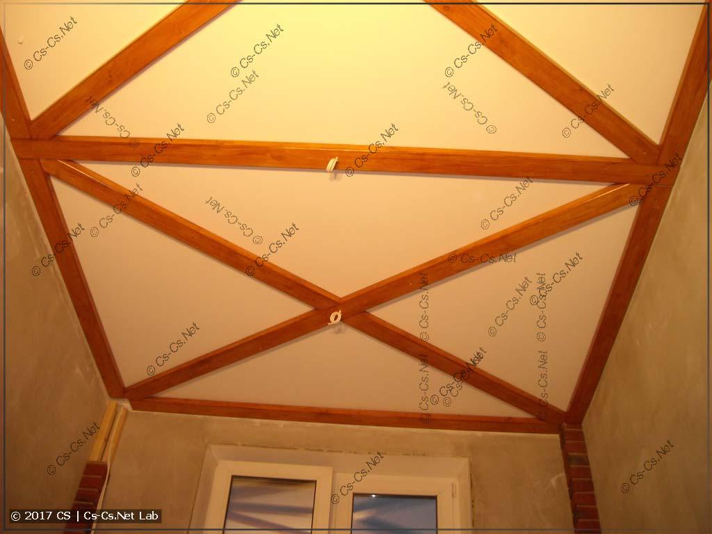 Потолок полностью и начисто готов!