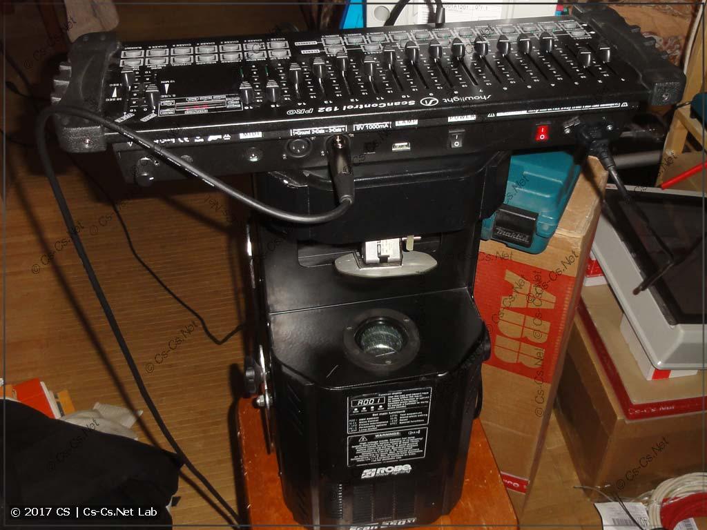 Демо-установка для тестирования пульта и записи видео