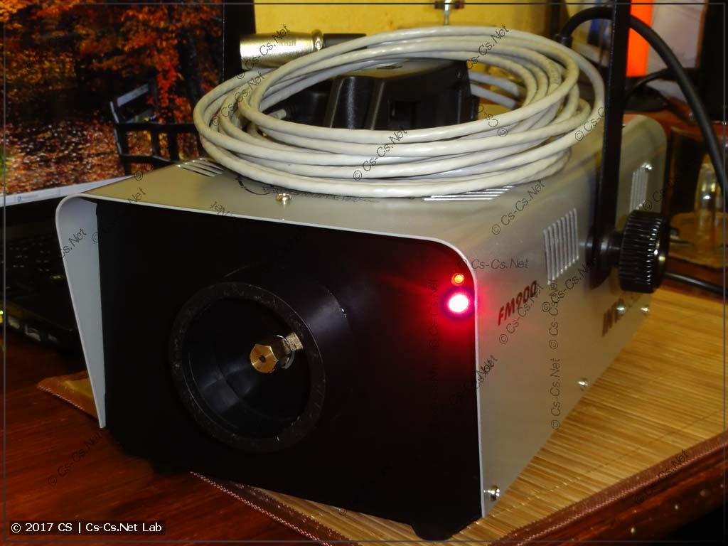Дымовая установка Involight FM900 после патча на DMX-протокол