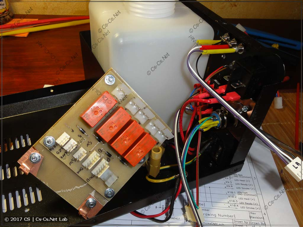 Начинаем потихоньку монтировать новое оборудование внутри дымовой установки