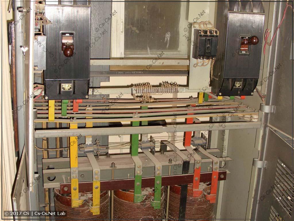Вводные автоматы тиристорной секции СТАРТ-120