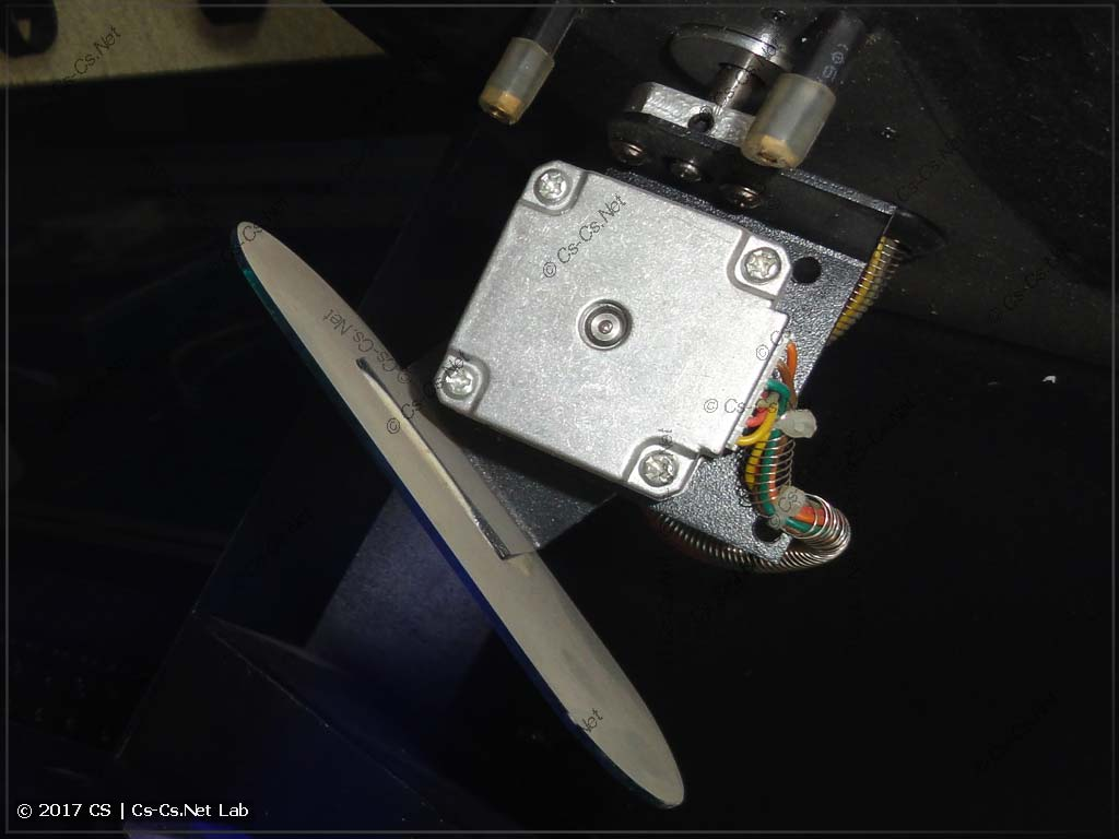 Привод зеркала настоящего сканера