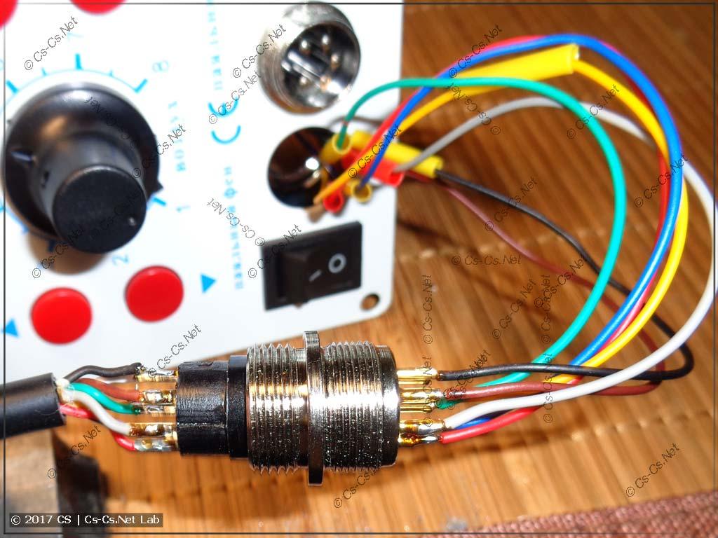 Взяли и припаяли все провода от кабеля фена