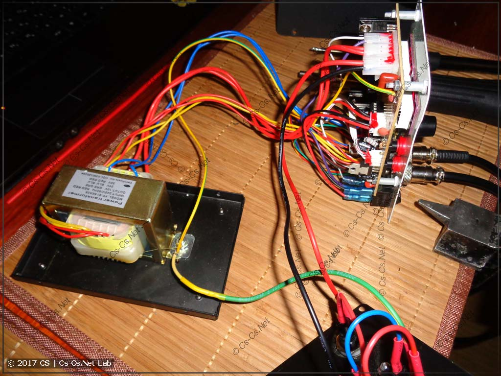 Весь монтаж станции - кучка проводов
