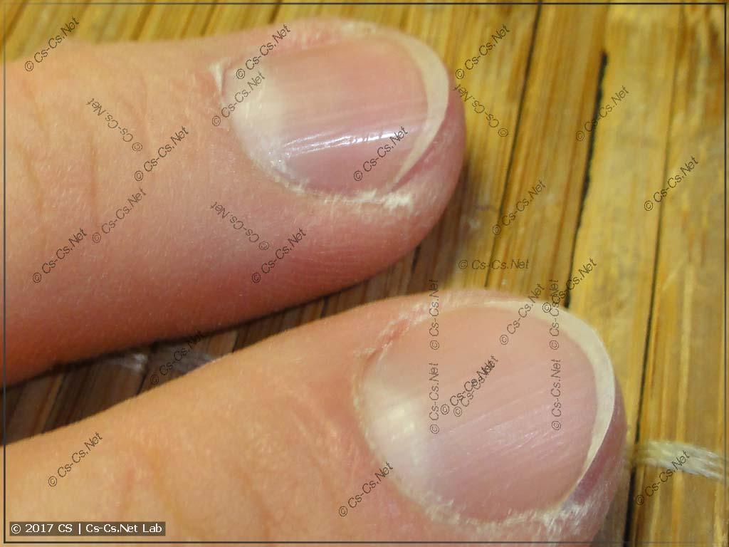 Эффект от полировки ногтя