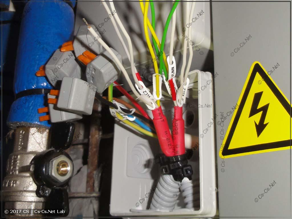 Маркируем хвосты проводов для приводов кранов FAR