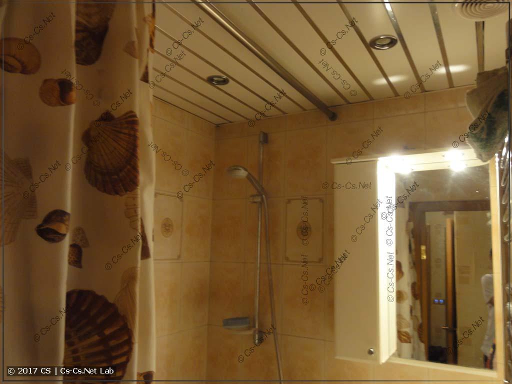 Свет ванной в интимном режиме