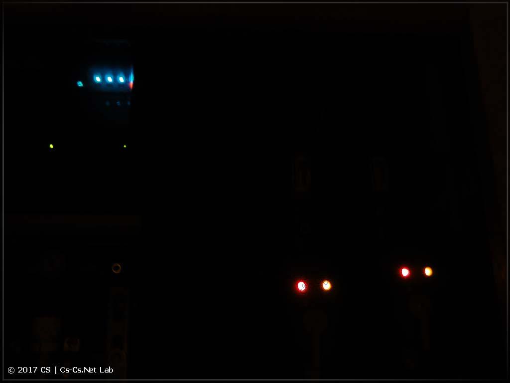 Лампочки на кранах FAR и на щите автоматики санузла
