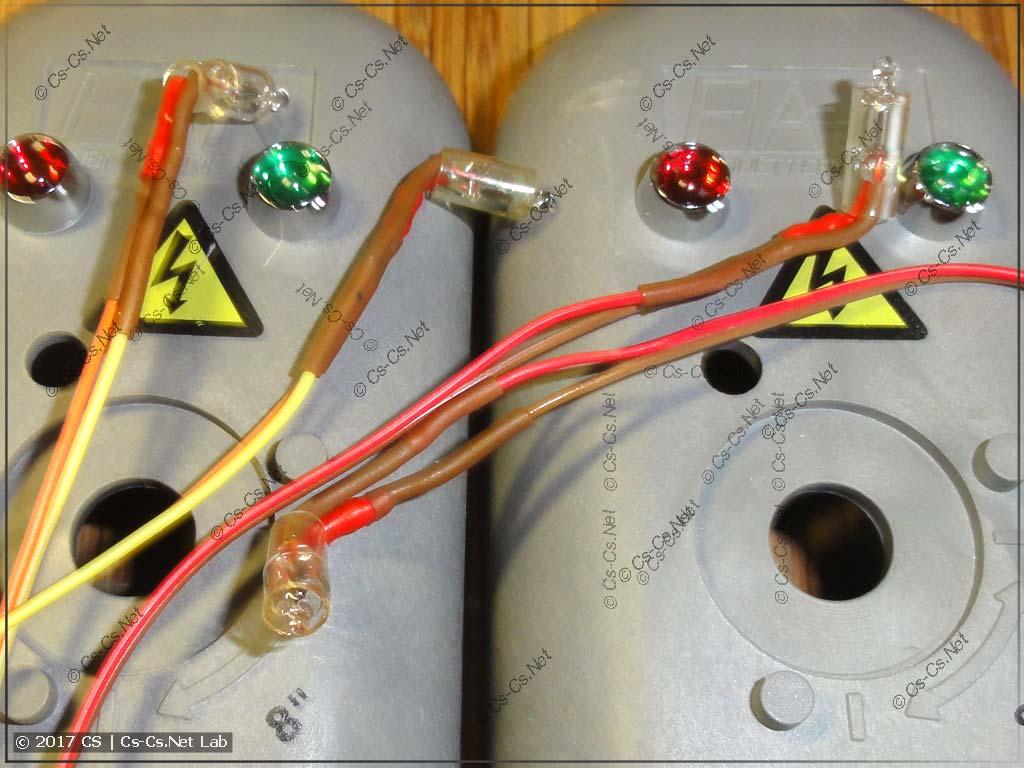 Заготовленные неоновые лампочки для подсветки кранов FAR