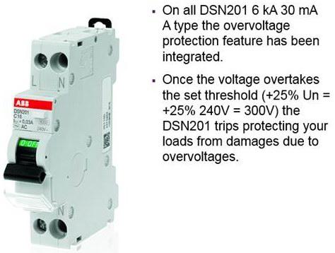 Электронные дифавтоматы ABB DSN201