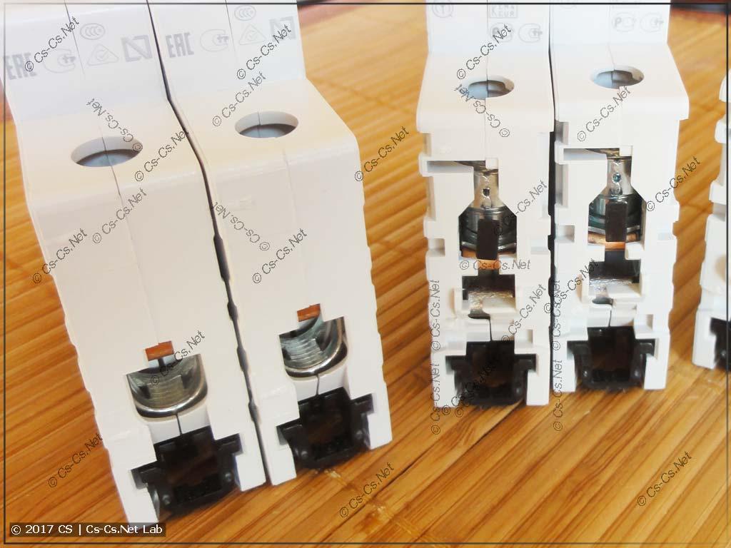 Контакты автоматов серии SH200 и S200 (Compact Home и System Pro M)
