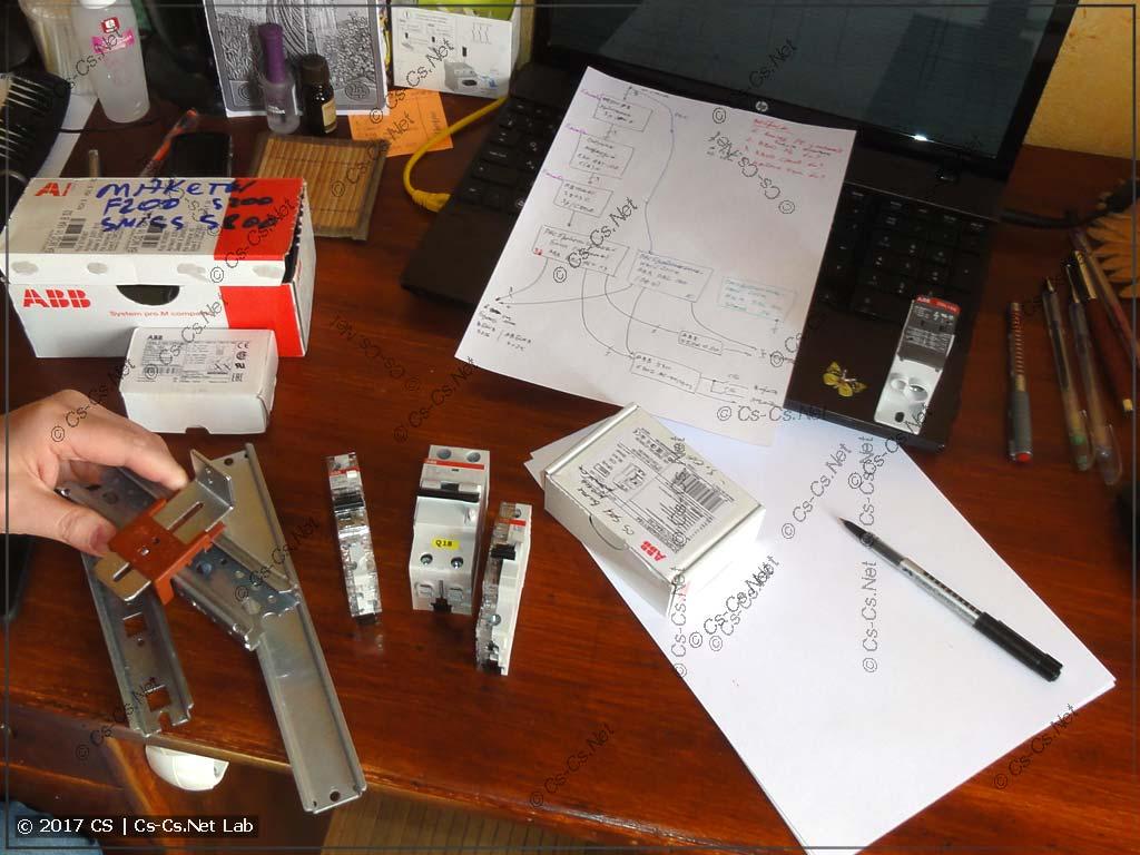 Процесс разработки щита вместе с заказчиком в лаборатории Электрошамана