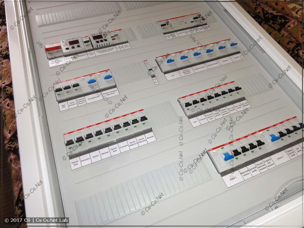 Щит для квартиры доме серии II-68 с автоматикой света и воды