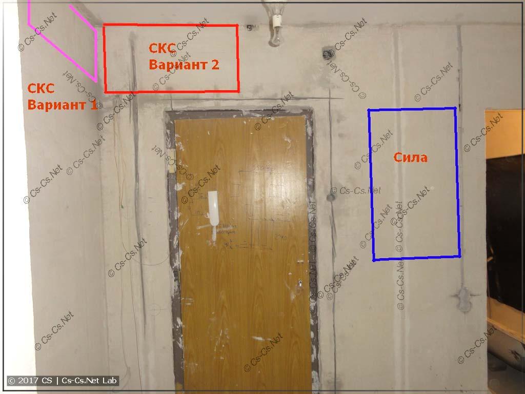Пример идей по тому, как разместить щит силы и слаботочки в квартире