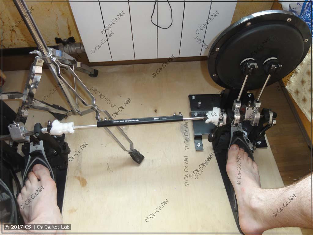 Использование кардана (двойная игра ногами)