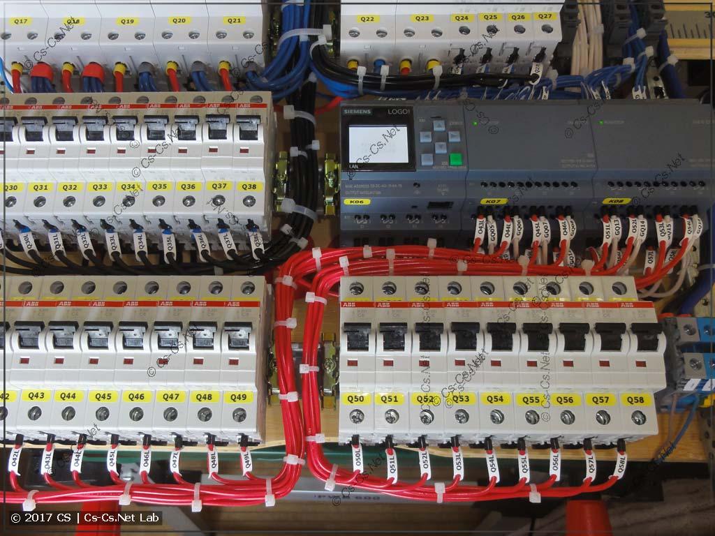 Жгуты проводов питания от автоматов защиты ламп