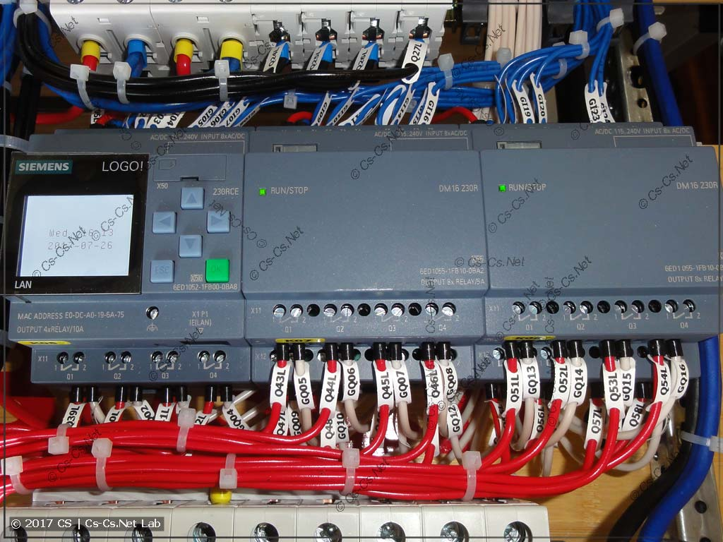 Обвязка контроллера Siemens Logo