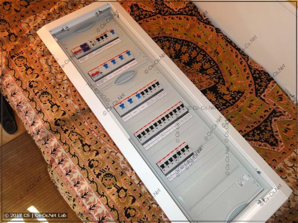 Простой однофазный щит для квартиры (в корпусе ABB U61)