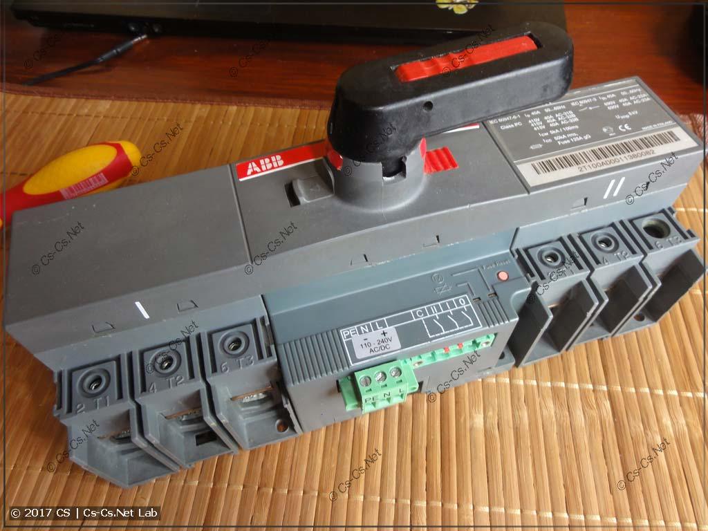 Рубильник с моторным приводом ABB OTM40CMA230V