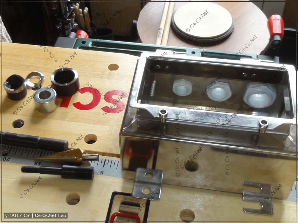 Тестируем пресс ПГПО-60А на мощной распаечной коробке