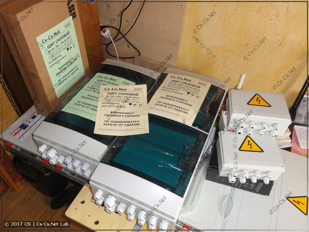 Комплект щитов для квартиры в Переделкино с автоматикой на Siemens Logo