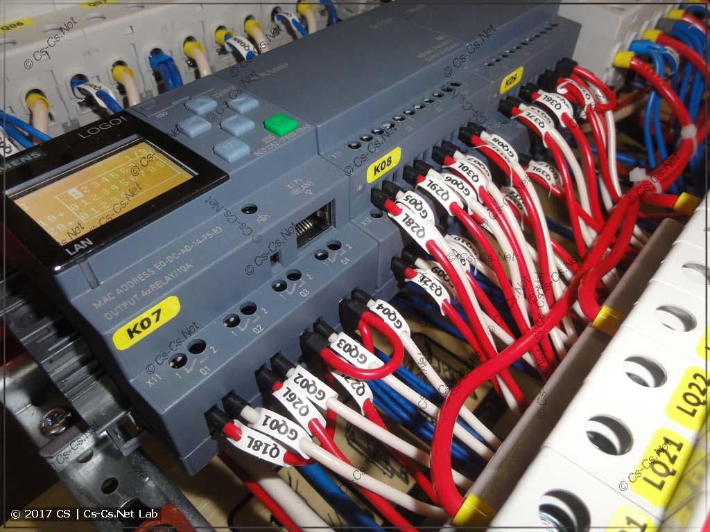 Контроллер Siemens Logo и его отходящие линии