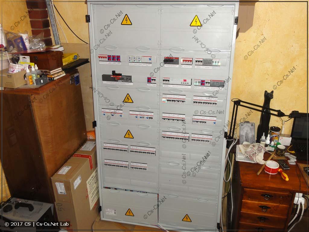 Демо: силовой шкаф для коттеджа в Поварово