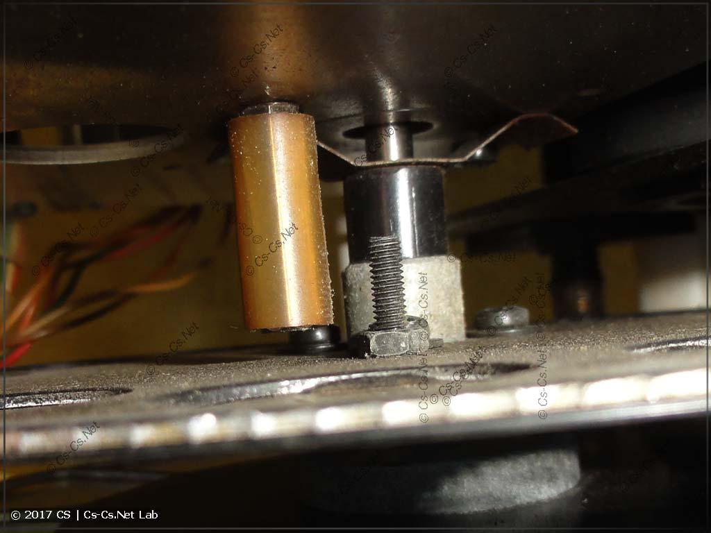 Стопор конечного положения диска статических гобо