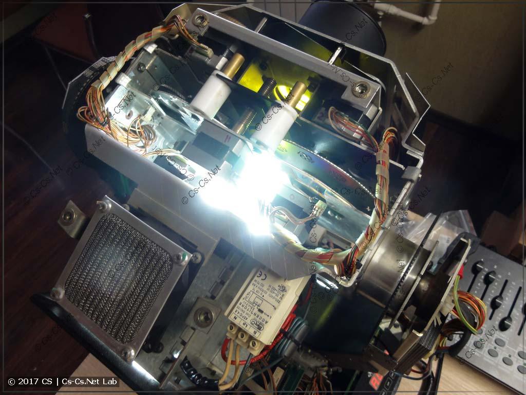 Включаем голову и начинаем тестировать оптику и механику