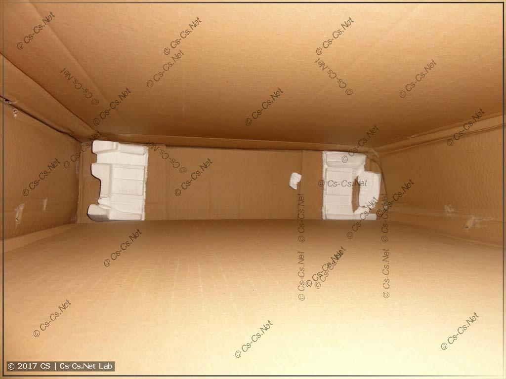Повреждённая коробка от щита (мастер её кидал)