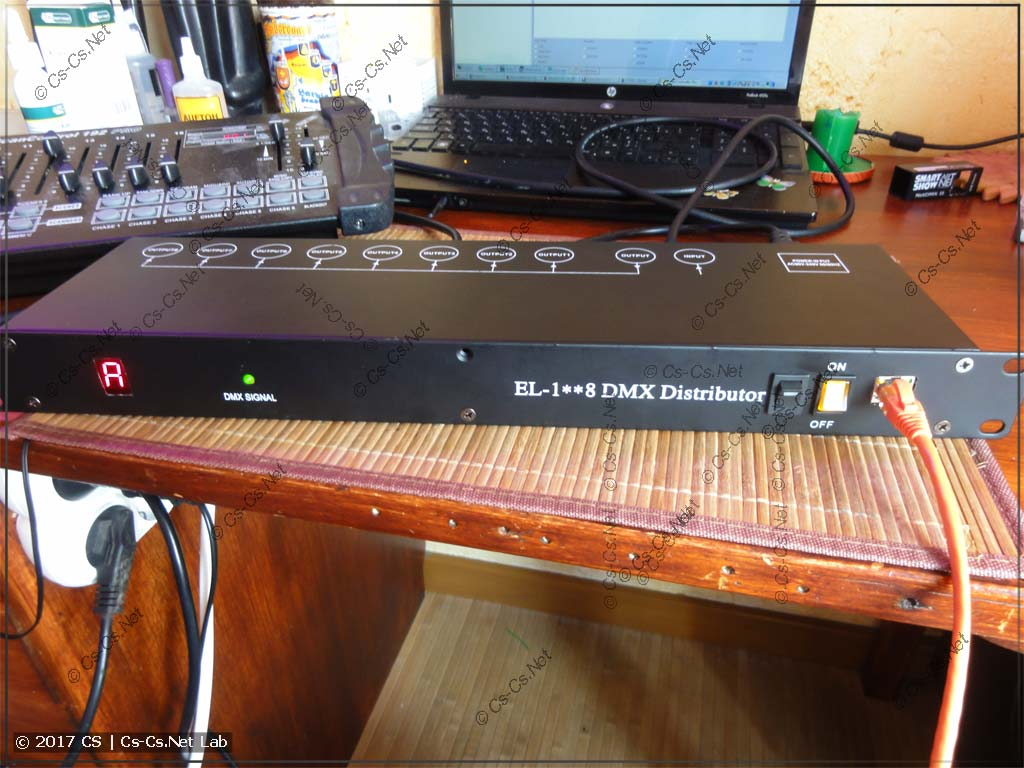 Конвертер ArtNet/DMX SmartShow NetDMX II в рэковом корпусе (переделка)
