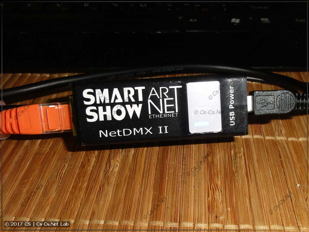 Конвертер ArtNet/DMX SmartShow NetDMX II в оригинальном корпусе