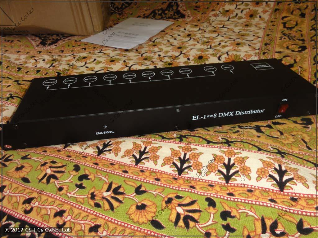 Разветвитель DMX-сигналов на 8 выходов в рэковом корпусе