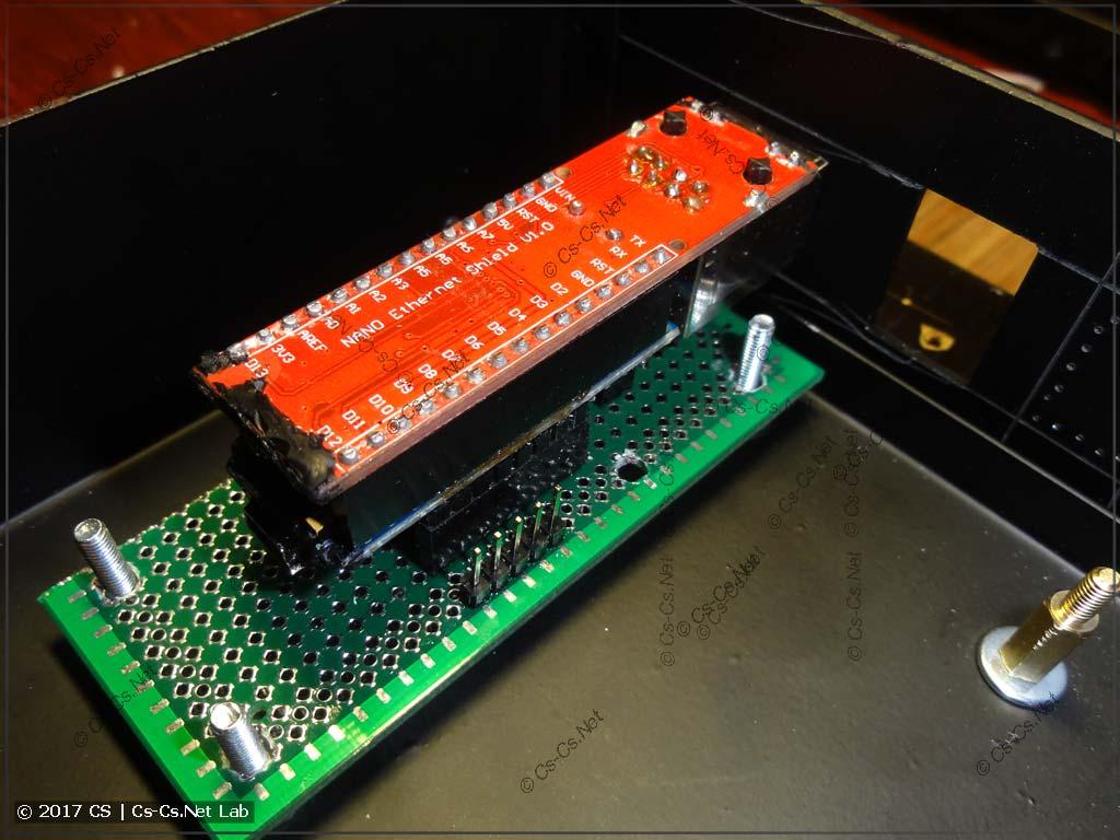 Тестируем установку NetDMX II в рэковый корпус