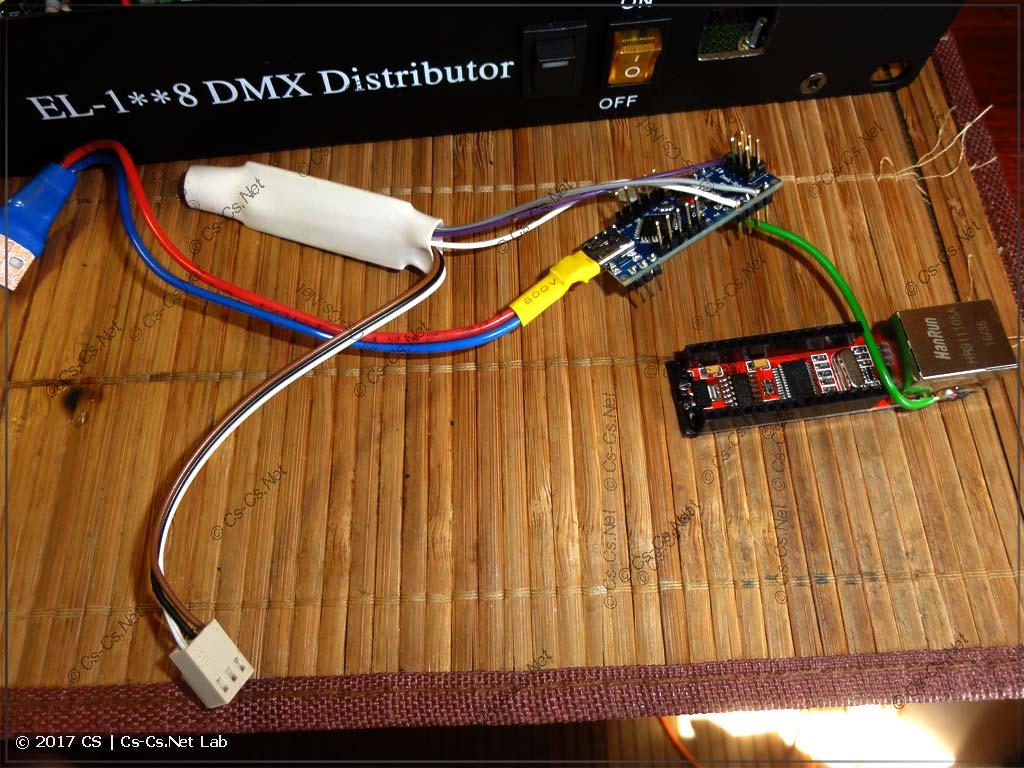 Все части переделанного ArtNet/DMX-конвертера готовы к сборке