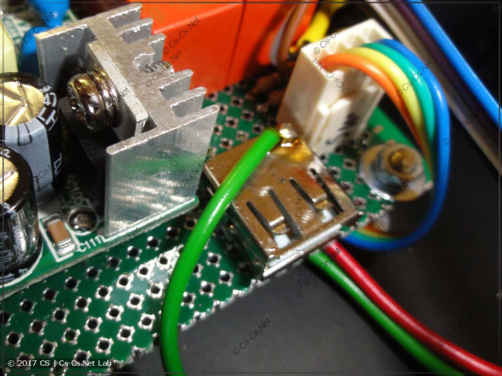 Заземление USB-разъёма (эквипотенциальное)