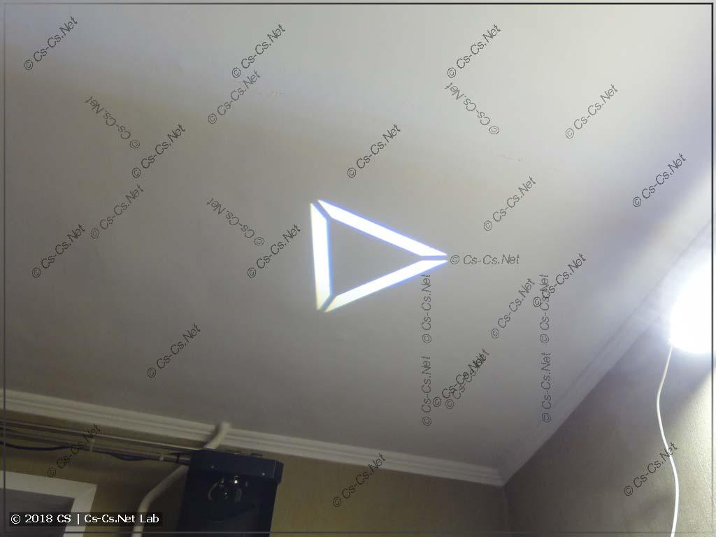 Тест светодиода COB на 10 Вт в ROBE Scan 250 XT (гобо)