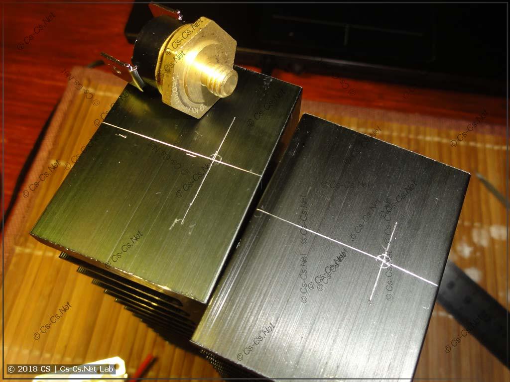 Готовимся врезать новый защитный термостат для светодиода